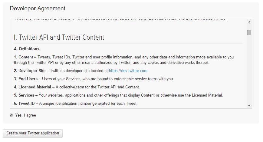 Twitter's Developer Agreement