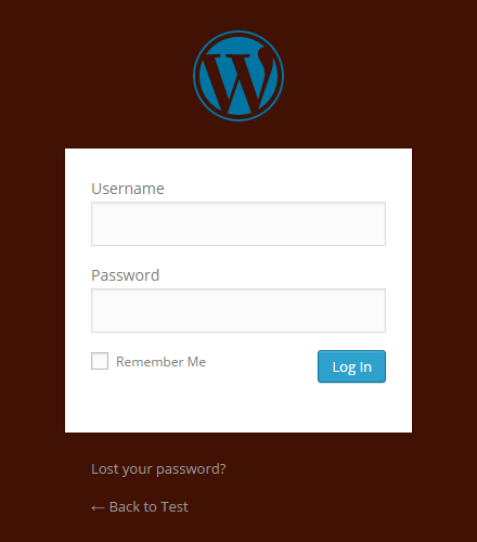 The Login Page with new backdound color.