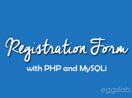 Creating Registration Form with PHP and MySQLi