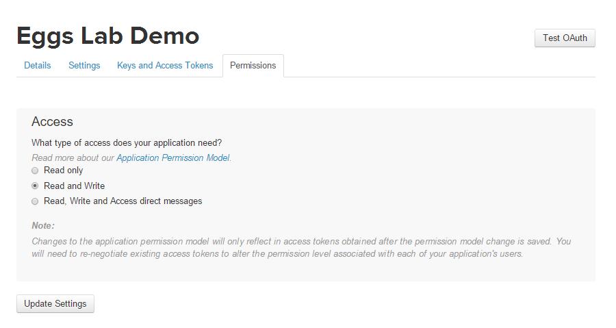 Application's Permissions