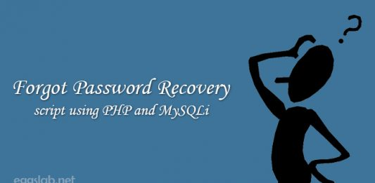 Forgot Password Recovery using PHP and MySQLi